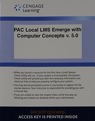 Local LMS Emerge with Computer Concepts V. 5. 0 Printed Access Card  5th edition cover