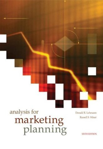Analysis for Marketing Planning  6th 2005 (Revised) edition cover
