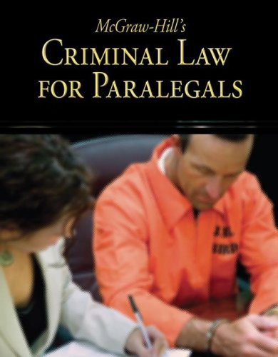 McGraw-Hill's Criminal Law for Paralegals   2009 edition cover