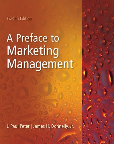Preface to Marketing Management  12th 2011 edition cover