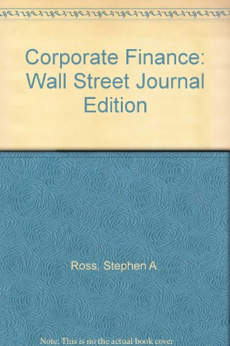CORPORATE FINANCE-WALL STREET 5th 1999 9780256261967 Front Cover