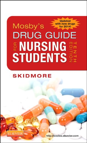 Mosby's Drug Guide for Nursing Students, with 2014 Update  10th 2013 edition cover