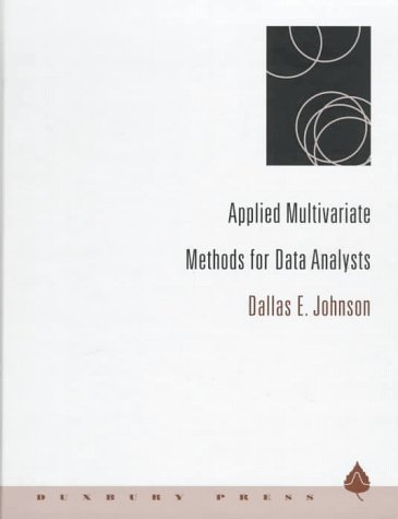 Applied Multivariate Methods for Data Analysts   1998 9780534237967 Front Cover