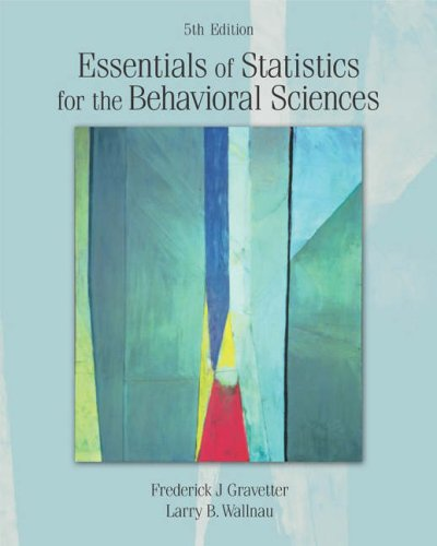 Essentials of Statistics for the Behavioral Sciences  5th 2005 edition cover
