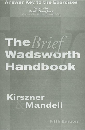 Wadsworth Handbook  5th 2007 (Brief Edition) 9781413021967 Front Cover