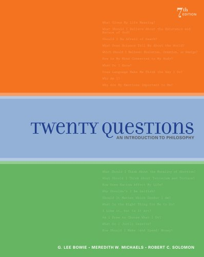 Twenty Questions An Introduction to Philosophy 7th 2011 9781439043967 Front Cover