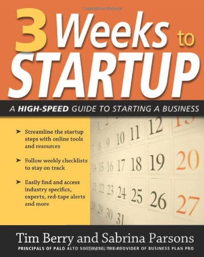 3 Weeks to Startup A High Speed Guide to Starting a Business  2008 edition cover