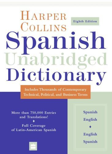 Spanish Dictionary  8th 2005 (Unabridged) edition cover