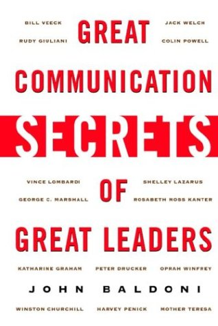 Great Communication Secrets of Great Leaders   2003 edition cover