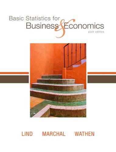 Basic Statistics for Business and Economics  6th 2008 edition cover