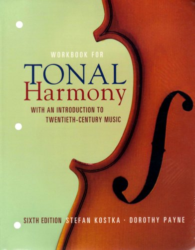 MP Tonal Harmony Workbook with Workbook CD and Finale Discount Code  6th 2009 edition cover