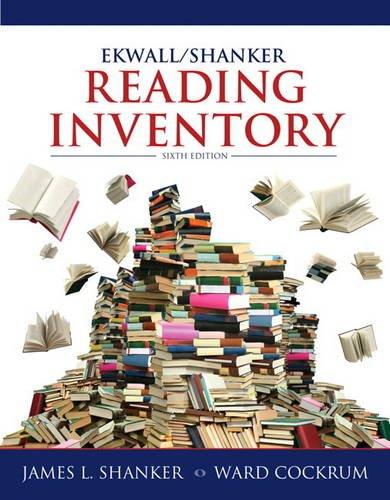 Ekwall/Shanker Reading Inventory  6th 2014 edition cover