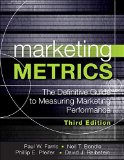 Marketing Metrics: The Manager's Guide to Measuring Marketing Performance  2015 9780134085968 Front Cover
