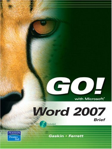 Word 2007   2008 (Brief Edition) 9780135129968 Front Cover