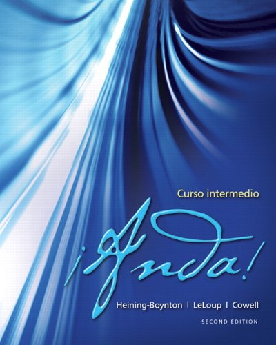 �Anda! - Curso Intermedio  2nd 2013 (Teachers Edition, Instructors Manual, etc.) edition cover