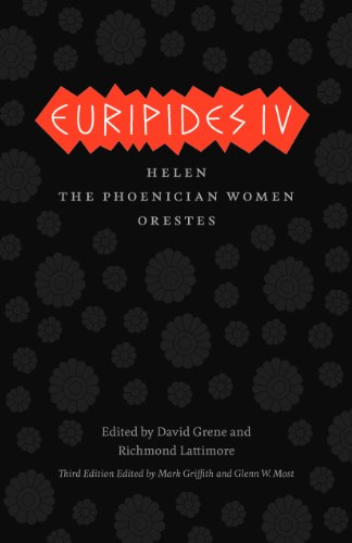 Euripides IV Helen, the Phoenician Women, Orestes 3rd 2013 edition cover