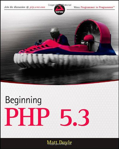 Beginning PHP 5.3   2010 edition cover