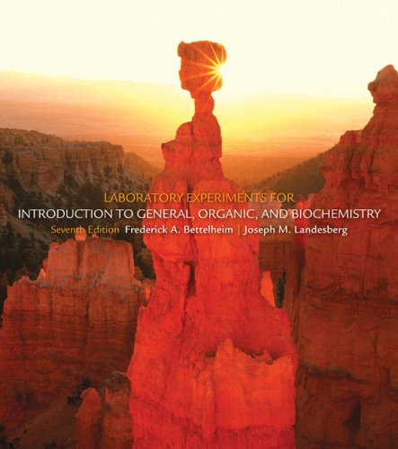 Laboratory Experiments for Introduction to General, Organic and Biochemistry  7th 2010 edition cover