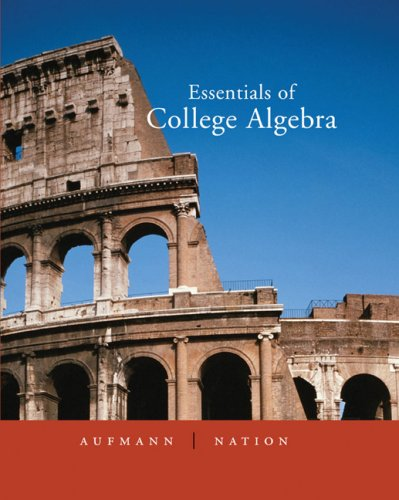Essentials of College Algebra   2006 edition cover