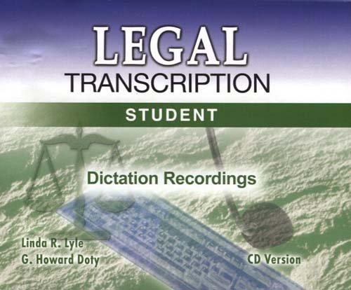 Legal Transcription : Student Courseware 1st 1995 9780763821968 Front Cover