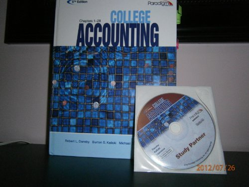 COLLEGE ACCT.,CHAPTERS 1-28 N/A edition cover