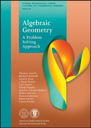 Algebraic Geometry A Problem Solving Approach  2013 edition cover