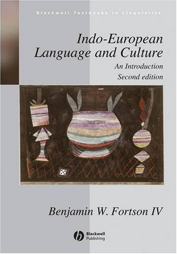 Indo-European Language and Culture An Introduction 2nd 2009 edition cover
