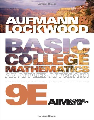Basic College Mathematics An Applied Approach 9th 2011 edition cover