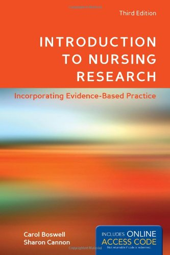 Introduction to Nursing Research  3rd 2014 edition cover