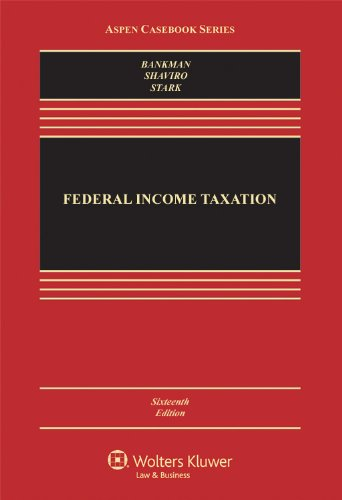 Federal Income Taxation  16th 2012 (Revised) edition cover