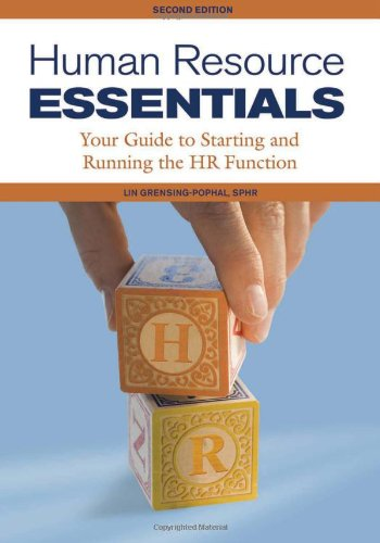 Human Resource Essentials Your Guide to Starting and Running the HR Function 2nd 2010 edition cover