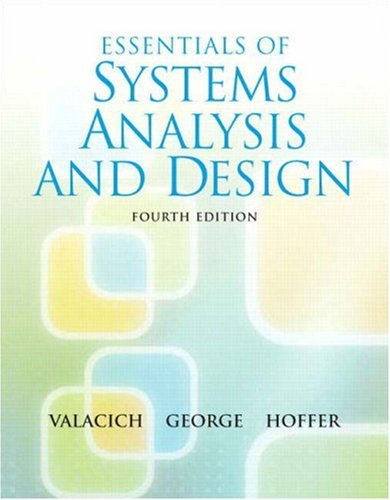 Essentials of System Analysis and Design  4th 2009 edition cover