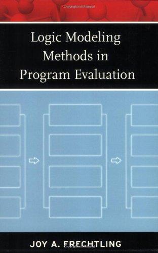 Logic Modeling Methods in Program Evaluation   2007 edition cover
