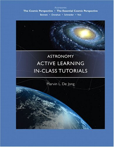 Astronomy Active Learning in-Class Tutorials   2006 edition cover