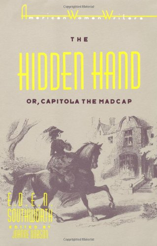 Hidden Hand Or, Capitola the Madcap  1988 edition cover