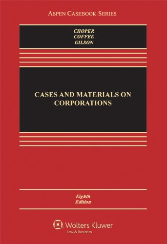 Cases and Materials on Corporations  4th 2013 (Revised) edition cover