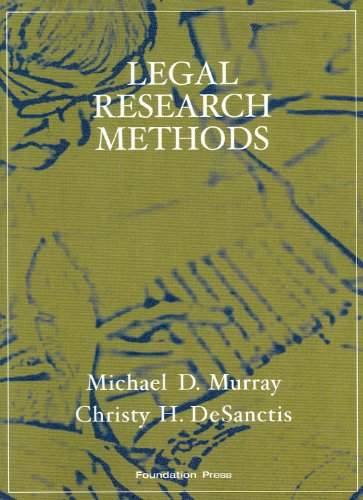 Legal Research Methods  2nd 2009 (Revised) edition cover