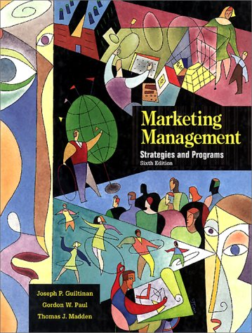 Marketing Management Strategies and Programs 6th 1997 edition cover