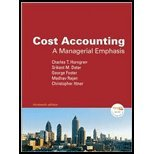 Cost Accounting: A Managerial Emphasis and Myaccountinglab Coursecompass Student Access Code Card Package  2008 9780135054970 Front Cover