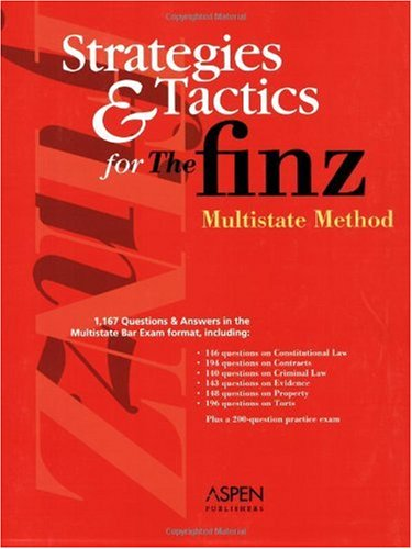 Finz Multistate Method   2004 (Student Manual, Study Guide, etc.) edition cover