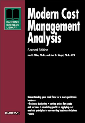 Modern Cost Management Analysis  2nd 2000 9780764113970 Front Cover