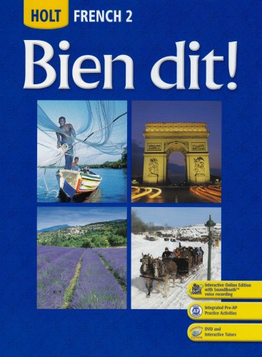 Holt Bien Dit!, Level 2   2007 (Student Manual, Study Guide, etc.) 9780030426971 Front Cover