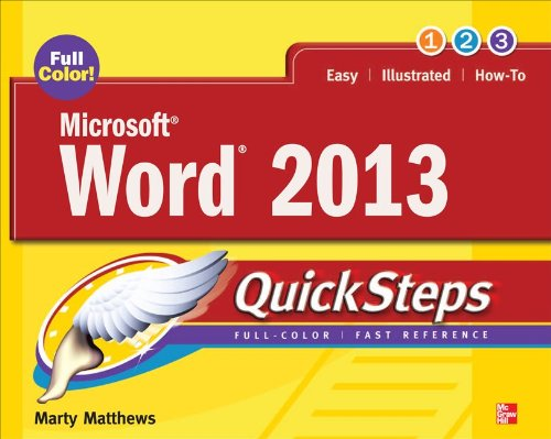 Microsoft� Word 2013 QuickSteps  3rd 2013 edition cover