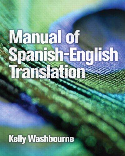 Manual of Spanish-English Translation   2010 edition cover