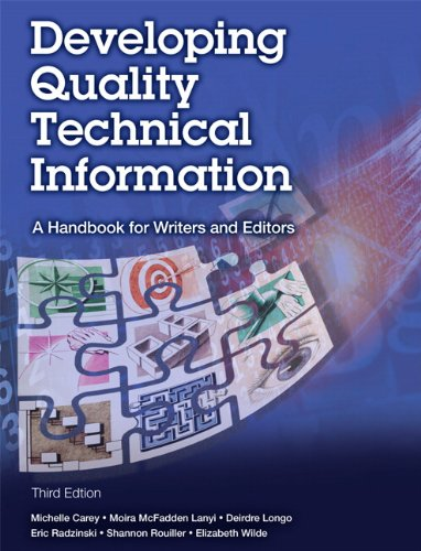 Developing Quality Technical Information A Handbook for Writers and Editors 3rd 2014 edition cover