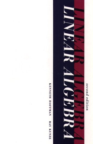 Linear Algebra  2nd 1971 9780135367971 Front Cover