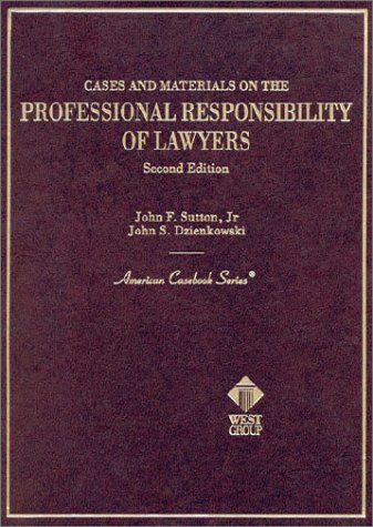 Professional Responsibility of Lawyers  2nd 2002 (Revised) 9780314065971 Front Cover