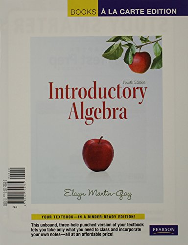 Inntroductory Algebra  4th 2012 edition cover