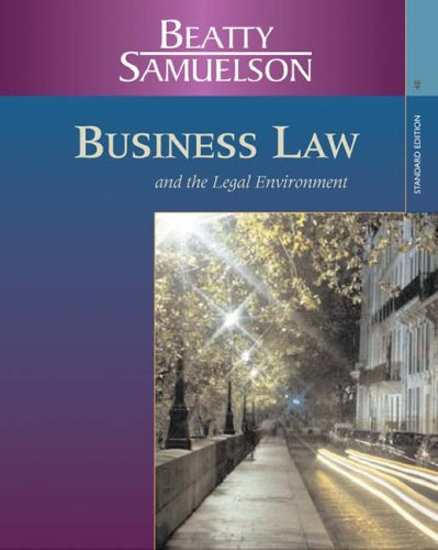 Business Law and the Legal Environment  4th 2007 edition cover