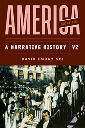 America: A Narrative History  2019 9780393668971 Front Cover
